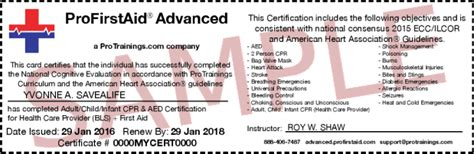 National Safety Council Cpr Card Template by Healthcare Provider Cpr And Aid Course Details