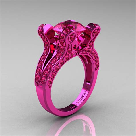 pink ring classicengagementring com vintage 14k pink