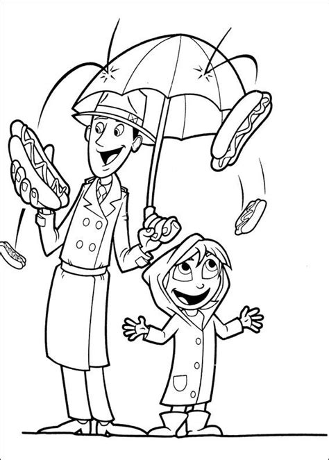 kids n fun com 32 coloring pages of cloudy with a chance