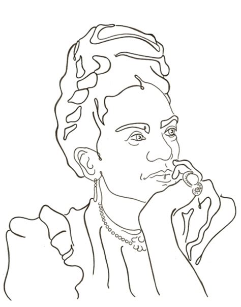 frida kahlo coloring pages az coloring pages