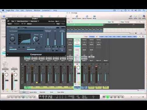 tutorial drum and bass 4 logic drum and bass tutorial drums compression youtube