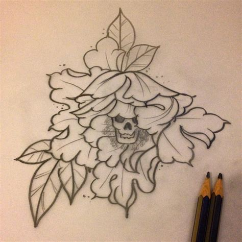 flower tattoo outline designs 18 peony designs