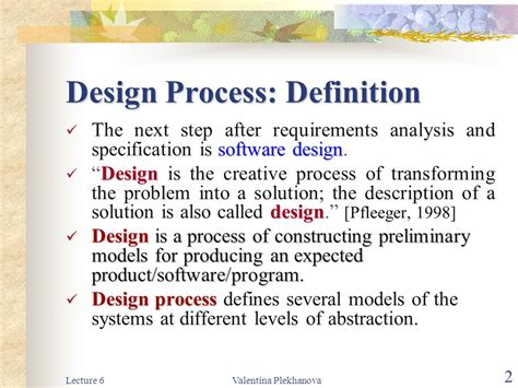 design problem definition lecture 6 software design part i ppt download