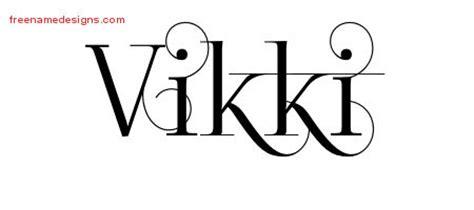 tattoo name vikki vikki archives free name designs