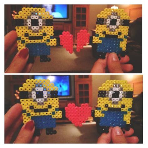 best hama minions perler and best friends on