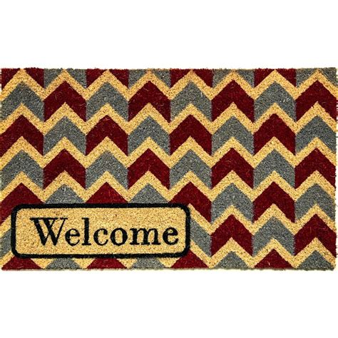 Chevron Welcome Mat Dynamic Rugs Aspen Welcome Blue Chevron 18 In X 30 In