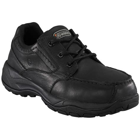 black work shoes s rockport works rk6747 composite toe work shoes
