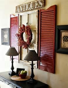 wall shutter decor shutter and window wall decor home