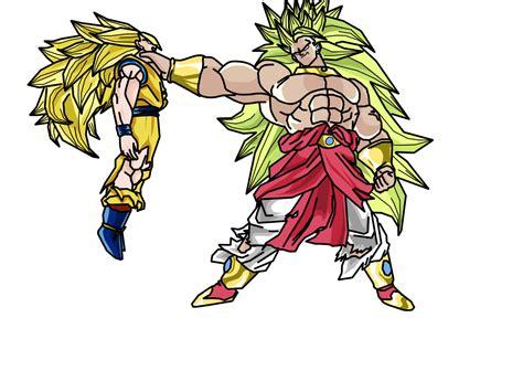 imagenes de goku y broly broly vs goku by cigany on deviantart