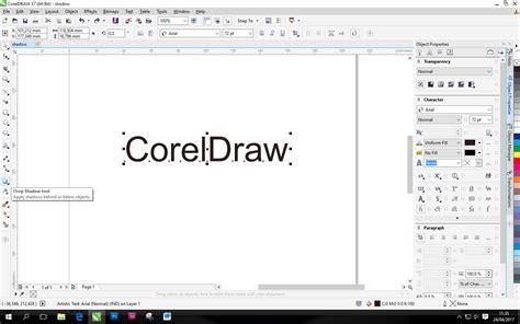 tutorial membuat desain grafis menggunakan corel draw membuat shadow tulisan menggunakan coreldraw kelas