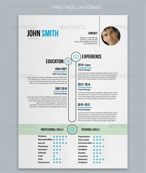 cv format and design awesome resume cv templates 56pixels com