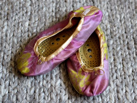 Holistic Silk Reflexology Slippers by Two Shoes I D Never Step Foot On A Plane Without