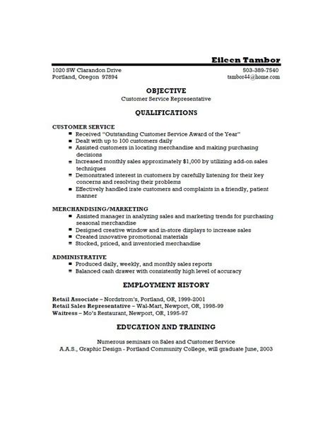 free resume sle for customer service free customer service resume template 28 images resume