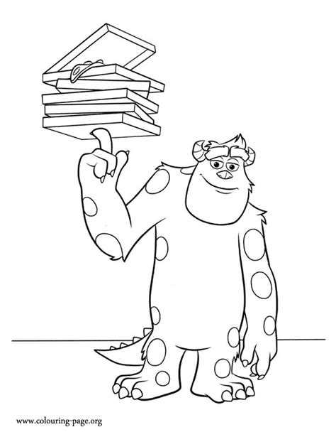 coloring pages monster university monsters university sulley a student of the monsters