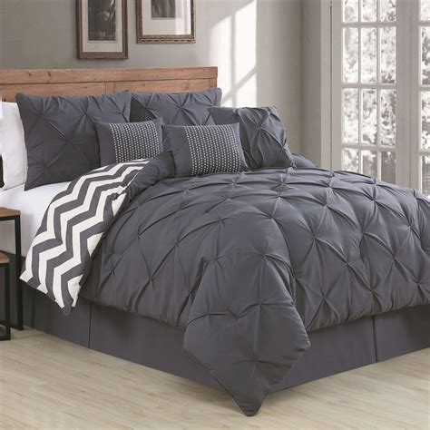 7 piece comforter set avondale manor ella pinch pleat reversible 7 piece