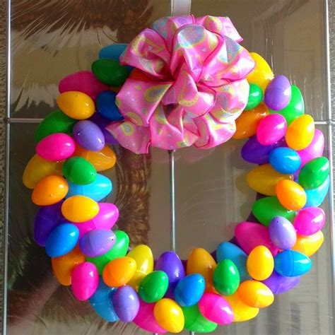 how to make an easter wreath with plastic eggs oh for the of easy easter wreath