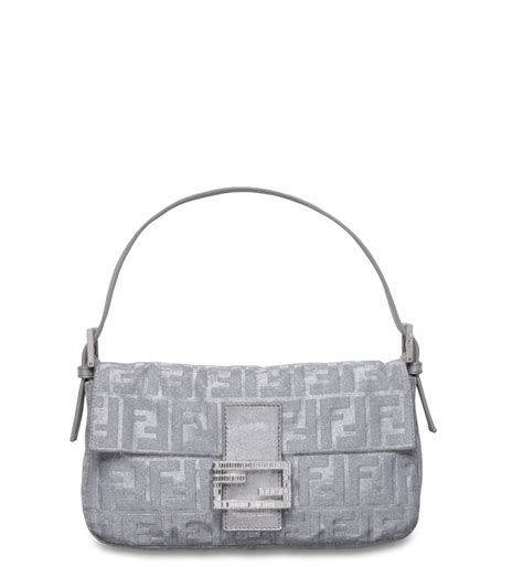 Fendi Sequined Zucca Satin Baguette by Fendi Baguette Bag Reference Guide Spotted Fashion