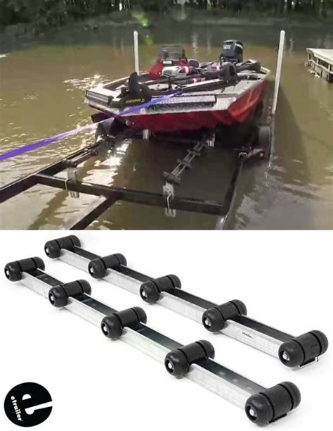 convert boat trailer to rollers ce smith roller bunks for boat trailers 5 rollers each