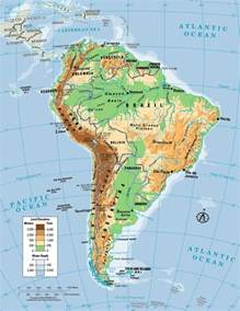 physical feature map of south america best photos of physical map of south america