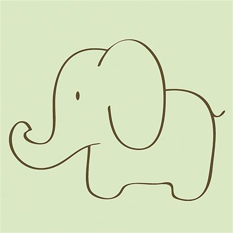 baby elephant template baby elephant outline pictures to pin on pinsdaddy