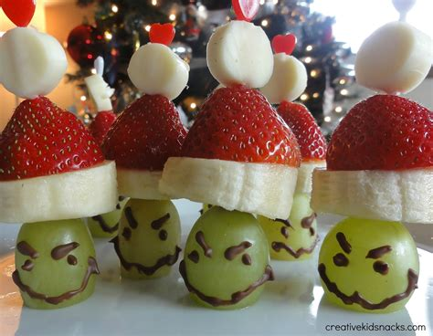 christmas snacks grinch poppers