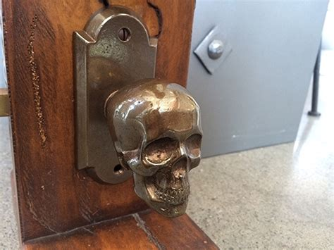 Skull Door Knob by Skull Bronze Backplate Hardware Doors Faucetto 1 Arch