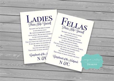 wedding bathroom basket sign wording wedding bathroom basket printable males females guest