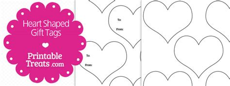 printable heart shaped name tags heart shaped gift tags template printable treats com