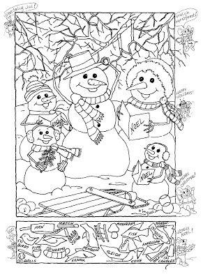 printable christmas hidden object games hidden pictures publishing snowman hidden picture puzzle