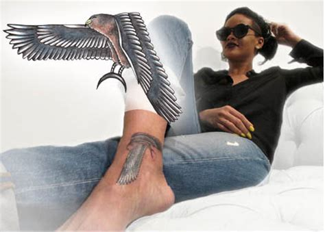 rihanna gun tattoo rihanna falcon gun tattooforaweek temporary
