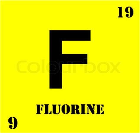 Fluorine Periodic Table by Number Fluorine Periodic Vector Colourbox
