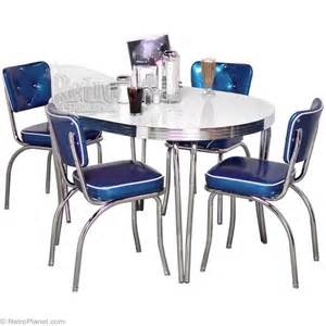 Retro Style Kitchen Table Designer Back Dinette Set