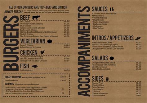 design menu burger burger off broadway menu design menu pinterest