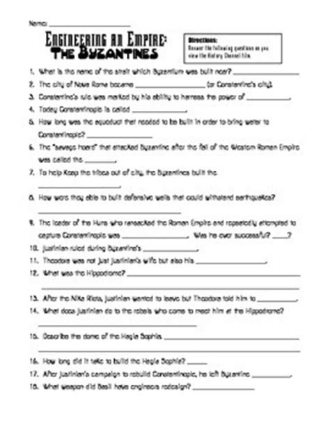 Rome Engineering An Empire Worksheet Answers by Byzantine Empire Worksheets Bluegreenish