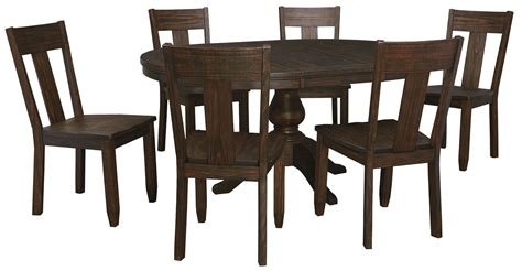 2 chair dining room set trudell brown dining side chair set of 2 from d658 01 coleman furniture