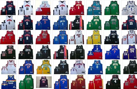 nba team jerseys images