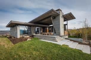 contemporary mountain home plans a modern entryway in this mountain home freshome com