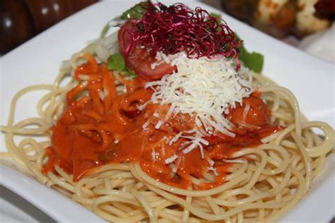 Salat Schön Anrichten by Kochbuch Spaghetti Mit Feurig Scharfen Sahne