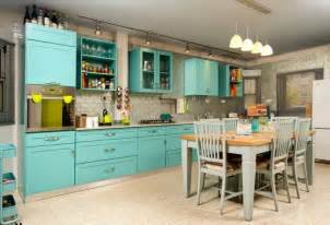 turquoise kitchen decor with turquoise kitchen island