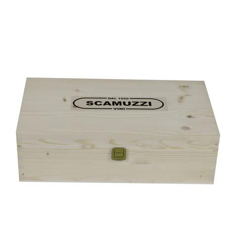 cassetta per legna cassetta in legno da 2 bottiglie enoteca scamuzzi