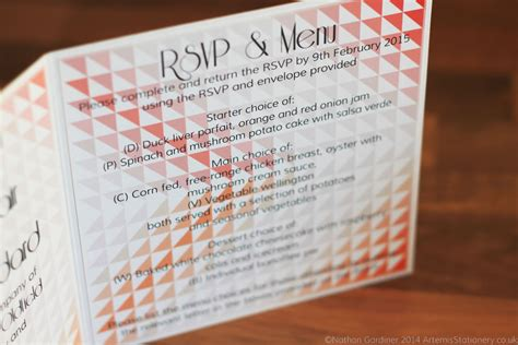 wedding invitations with detachable rsvp cards detachable rsvp on trifold card