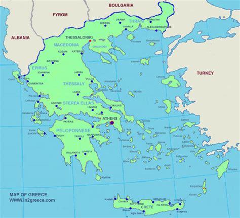 greece on map greece map political area map of greece regional