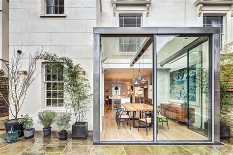 london house design modern steel and glass rear extension of a victorian semi