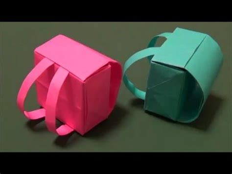 Origami Backpack - origami backpack folding origami