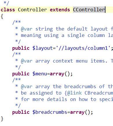 yii layout renderpartial yii入门教程之目录结构 入口文件及路由设置 布布扣 bubuko com