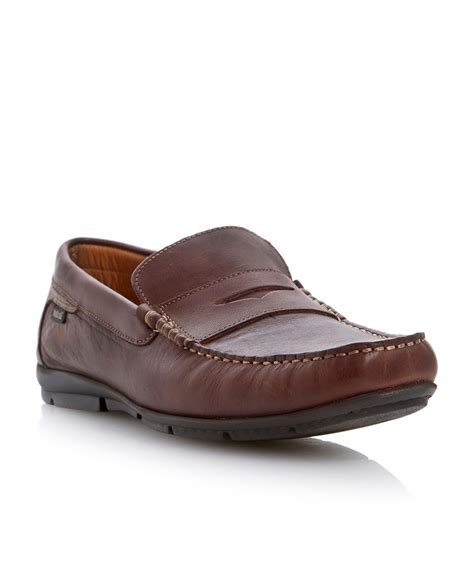 loake loafers loake mallory driver loafers in brown for lyst