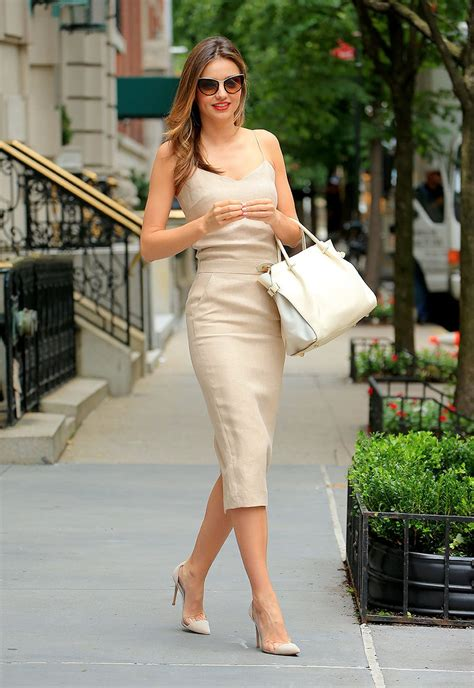 Mix Of Neutral Style Couture In The City Fashion Couture In The City by Miranda Kerr And The Beige Dress Trend For Summer Vogue