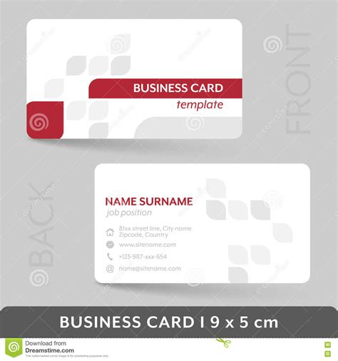 business card presentation template business card template for your corporate or personal