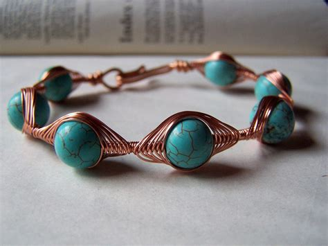 jewelry from copper wire copper jewelry wire bracelets turquoise by stonehorsedesigns