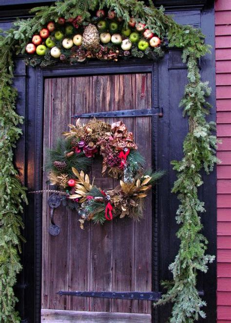 christmas front door decor 50 best christmas door decorations for 2017